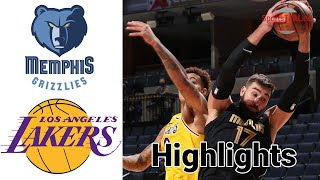 Grizzlies vs Lakers HIGHLIGHTS Full Game