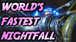 WORLD'S FASTEST NIGHTFALL! [4:58] The Arms Dealer (Destiny 2)