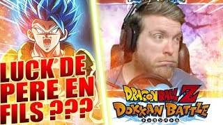 LA LUCK DE PERE EN FILS ? INVOCATIONS GOGETA BLUE - DOKKAN BATTLE