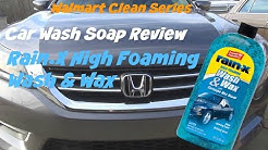 Walmart Clean Series review of Rainx wash and wax with Carnauba beads car soap