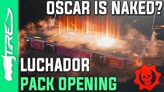 OSCAR IS NAKED? - Gears of War 4 Gear Packs Opening - 15 LUCHADOR OSCAR PACKS! (GoW4 Gear Packs)