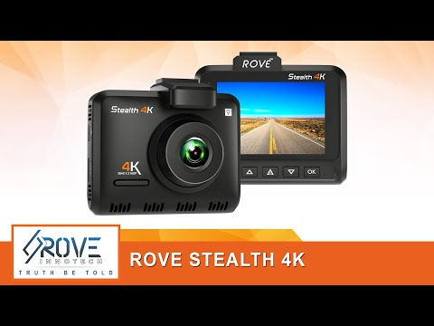 Rove STEALTH 4K Dash Cam Built-In Wi-Fi & GPS - UHD 2160P Resolution, 512GB SD Card Max. Support