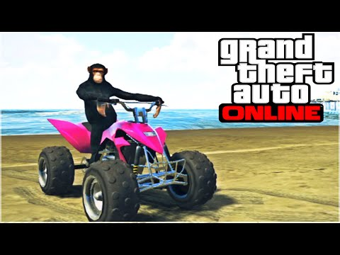 FUNNY DANCING MONKEY! (GTA 5 Funny Moments)