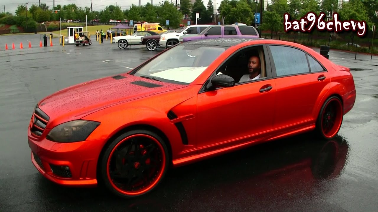 Candy Orange Black Mercedes Benz S550 On 22 Quot Forgiato