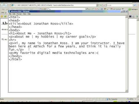 Handcoding Html, Part2, Basic Html Text Formatting