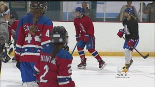 Local Girls Hockey Team Getting Ready To Play Against Boys In China