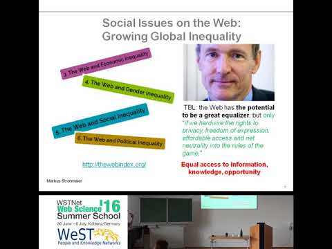 """""""Computational Social Science for the World Wide Web"""" by Markus Strohmaier"""