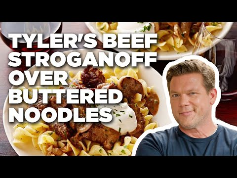 How to Make Tyler's Beef Stroganoff over Buttered Noodles | Food Network