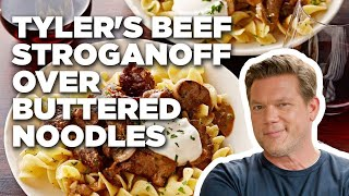 Tyler's Beef Stroganoff over Buttered Noodles | Food Network