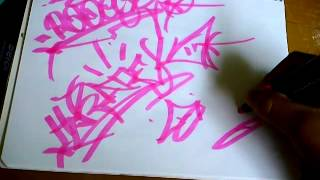 Como hacer una tag o firma de graffiti