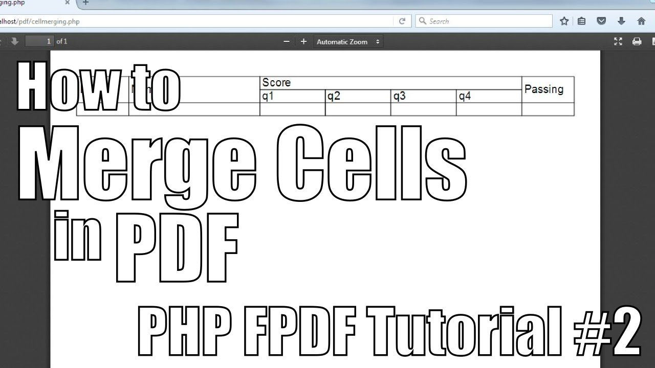 How To Merge Cells in PDF | PHP FPDF Tutorial #2