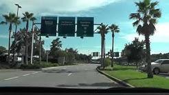 PNS Pensacola airport rental cars, loop road and exit