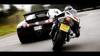 スーパーカー対スーパーバイク! トップストリートレース   ランボルギーニ、マクラーレン..対カワサキ、ヤマハ..