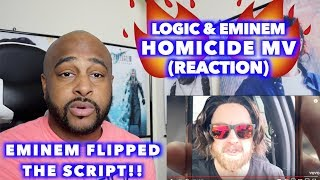 HOMICIDE  - LOGIC & EMINEM | THIS WAS REALLY CREATIVE!! | REACTION