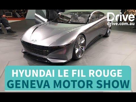 Hyundai Le Fil Rouge Concept Revealed   Drive.com.au - Dauer: 37 Sekunden