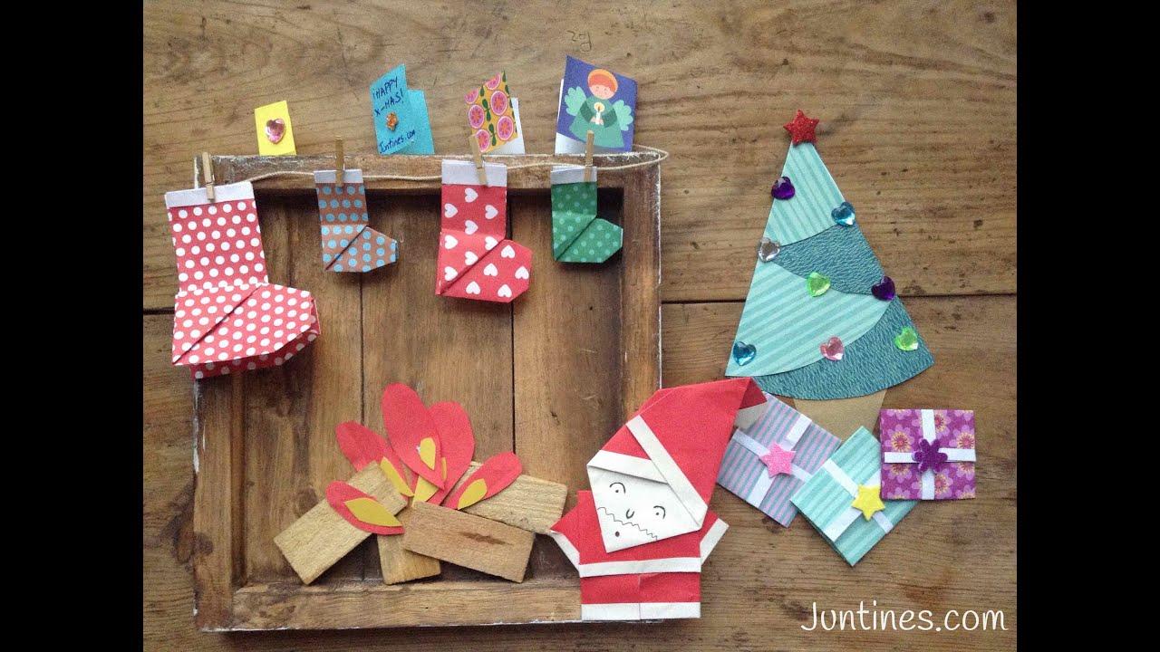 Origami f cil para ni os pap noel de papel - Manualidades ninos navidad ...