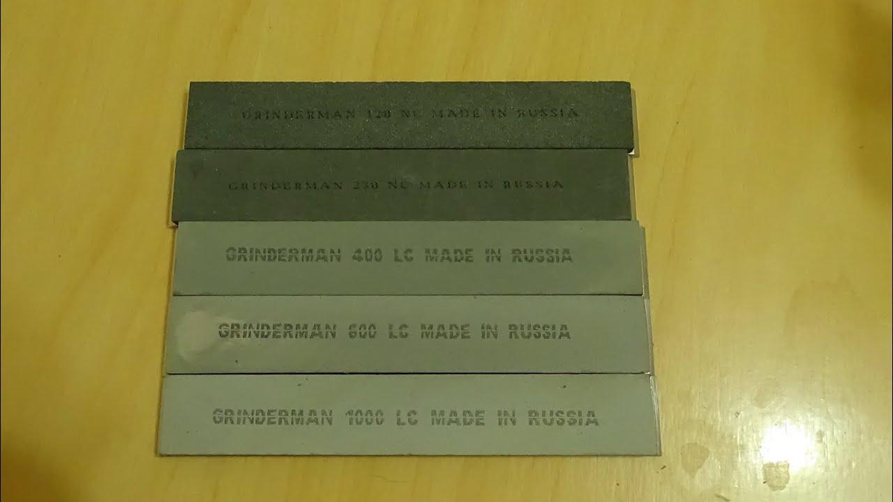 Заточка ножа на апексе камнями Гриндерман из карбида кремния - YouTube