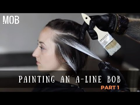 How To Balayage An Ombre In Short Hair Youtube