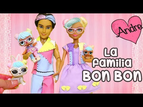 La familia LOL Bon Bon y el gatito peleón | Muñecas y juguetes con Andre para niñas y niños