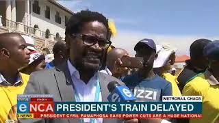 Prasa respond to Ramaphosa's train delay situation