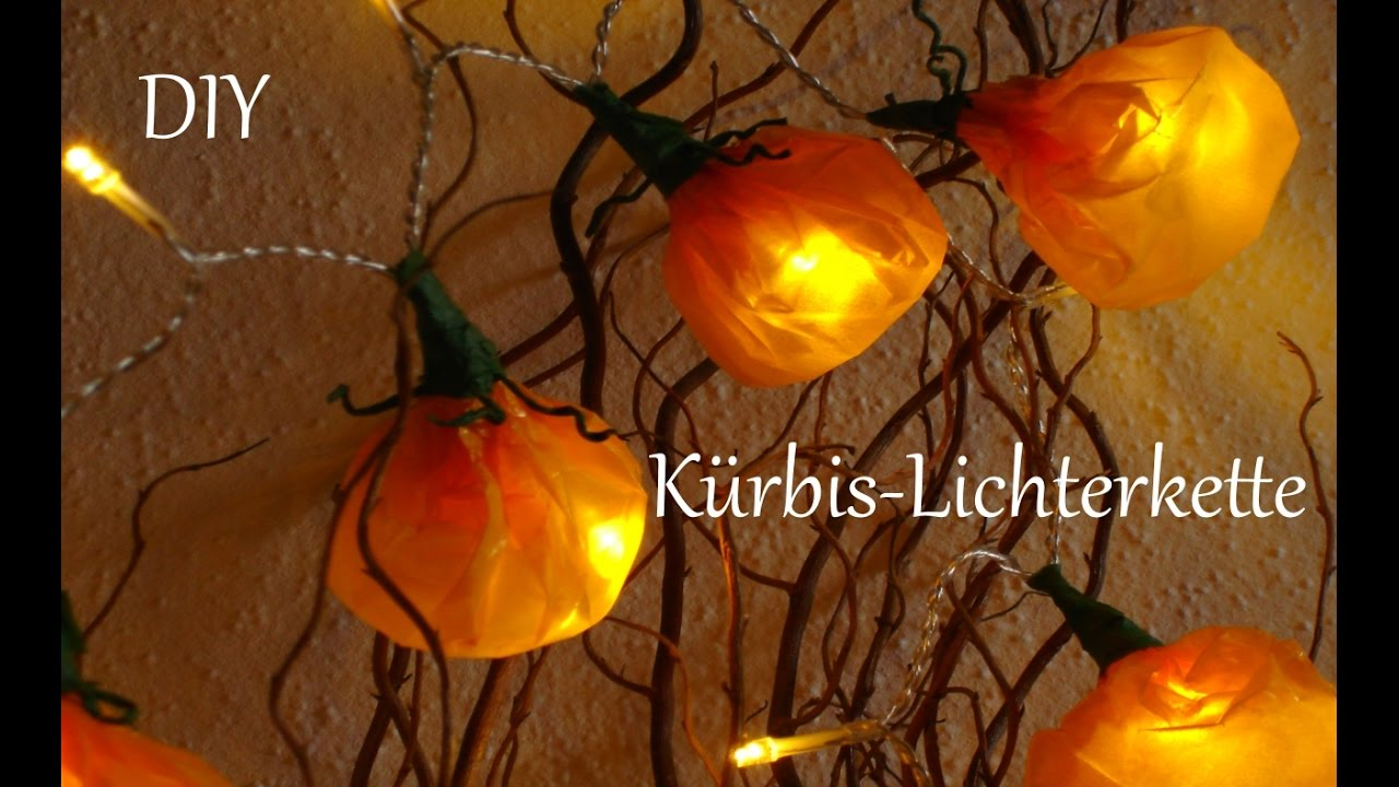 DIY | Herbstdeko | Kürbis- Lichterkette | Halloween | Just Deko ...