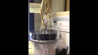 Stirling engine running on luke warm water