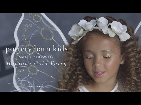 Easy Halloween Makeup Tutorial - Gold Fairy Costume for Pottery Barn Kids