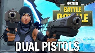 Trying the new Dual Pistols! - Fortnite Battle Royale Gameplay - Xbox One X