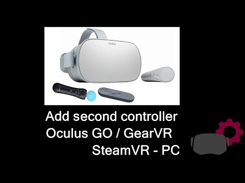How get two Controllers for Oculus GO or GearVR and for Virtual Reality  Steam PC Games