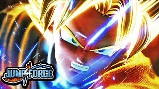 JUMP FORCE OFFICIAL GAMEPLAY REVEAL TRAILER HD! NEW GOKU IN J-STARS GAME 2019 TRAILER! E3 2018