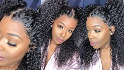 Yess! MELTDOWN! Easy Flawless Install Affordable Pre-plucked Curly 360 Wig, Save 35% off OmgQueen
