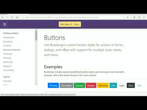 Offline Documentation Of Bootstrap | How To Download
