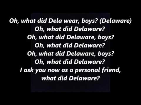 WHAT DID DELAWARE BOYS? learn your States song LYRICS WORDS BEST not Como SING ALONG
