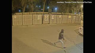 Anthony ?Fif? Soares, a close friend of Drake, was shot on September 14. Here, two men can be seen rushing toward the highrise building where Soares was shot. (Toronto Police Services)