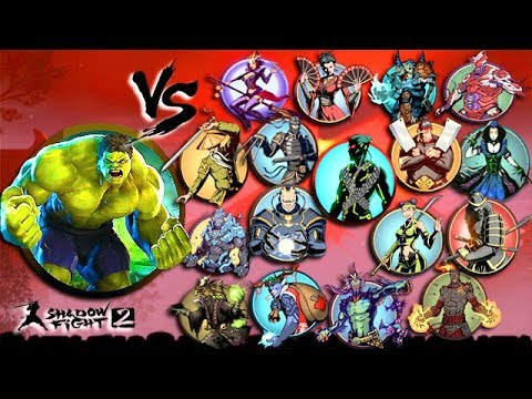Shadow Fight 2 Hulk Vs All Bosses