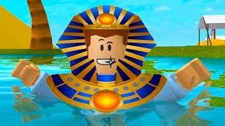 Побег из ПИРАМИДЫ в ROBLOX! ВЫЖИВАНИЯ челлендж challenge - КИД выживает в мультяшной игре #КИД