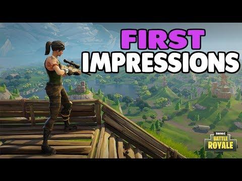 Better Than PUBG?!? - Fortnite Battle Royal First Impressions