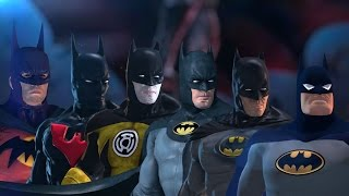 All Batman Costumes (Earth 1, Sinestro Corps, Batman Beyond, Dark Knight, Batman Inc, Year One)