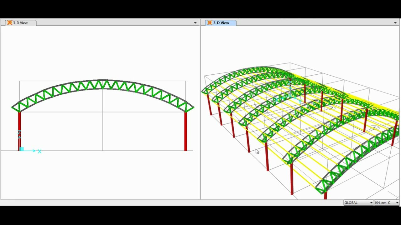 Sap2000 Modeling Ysis And Design Of E Truss Triangular Arch 01 02