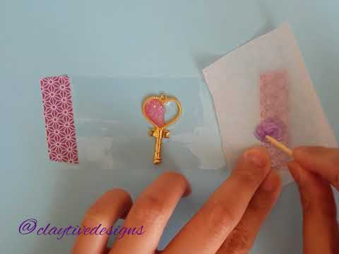 UV Resin Open Bezel Heart Charm Tutorial