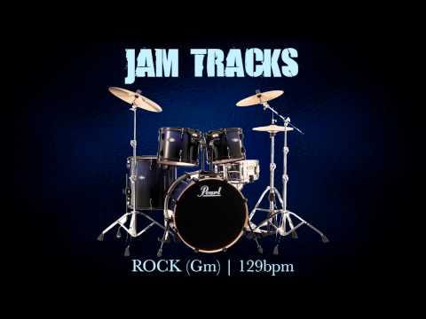 Rock Drum Backing Track (Gm) | 129 Bpm - MegaBackingTracks