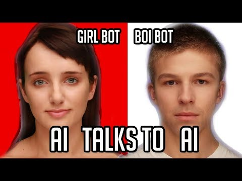 GIRL BOT Talks To BOI BOT. What Happens? (Two AI Chat Bots Talk To Each Other)