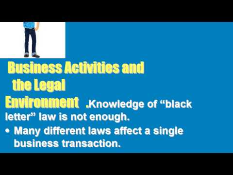 GB205 Chapter 1 Business and Its Legal Environment