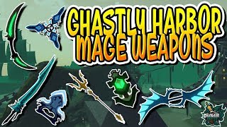 *NEW* ALL MAGE WEAPONS FROM GHASTLY HARBOR IN DUNGEON QUEST!! (Roblox)
