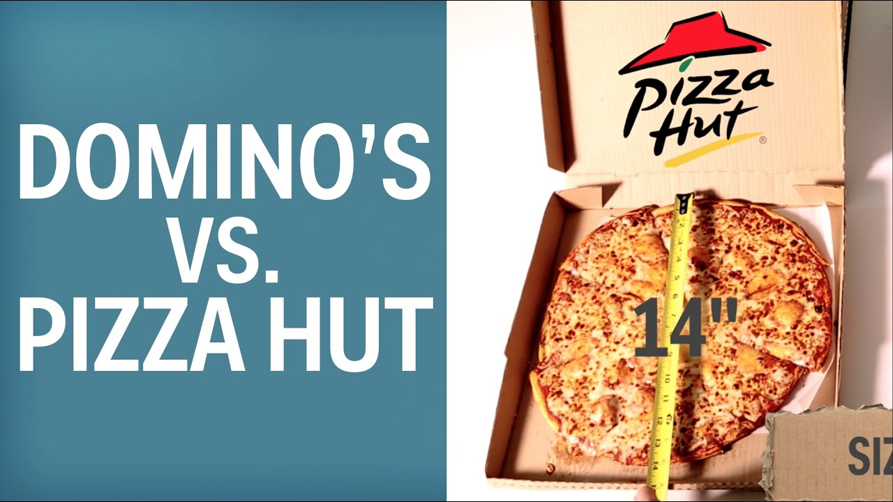 Domino S Vs Pizza Hut Best Value Youtube