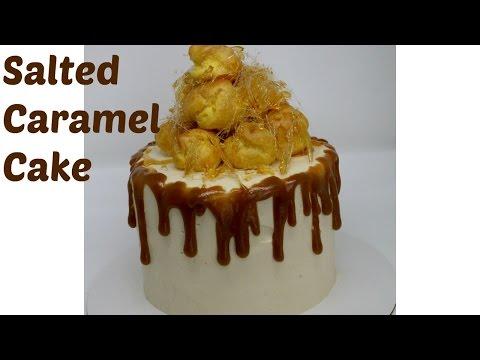 Salted Caramel Croquembouche Drip Cake