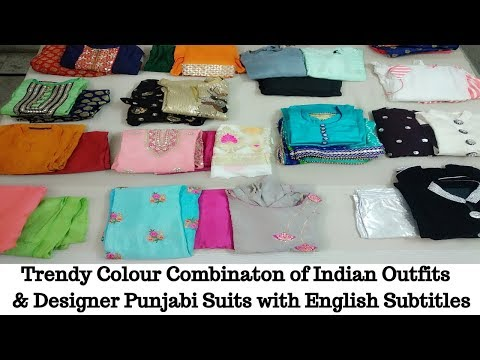 Beautiful and Trendy Color Combination of Indian Outfits and Designer Punjabi Suits-English Subtitle