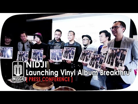 Cover Lagu Launching Vinyl Album Breakthru` - Nidji Press Conference