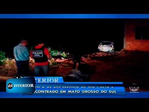 Corpo de empresário de Rio Preto é encontrado em Mato Grosso do Sul