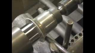 Hand Metal Spinning a Pewter Baby Cup on a Lathe